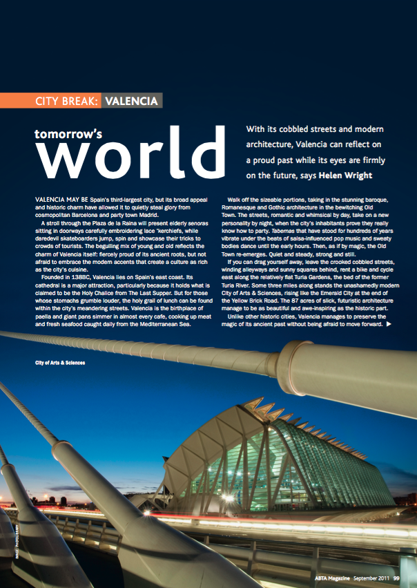 ABTA Magazine: Valencia by Helen Wright