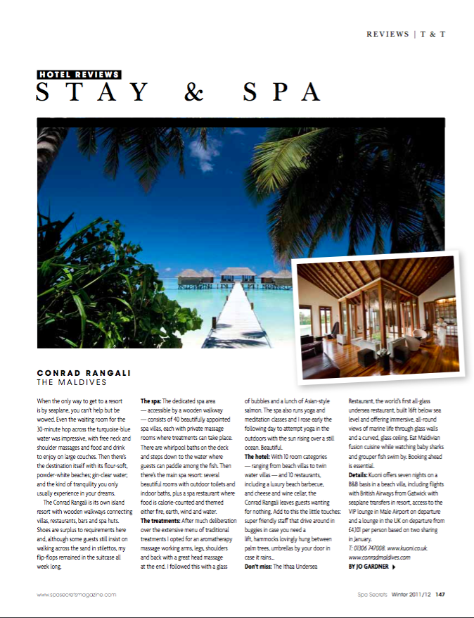 SPA SECRETS - STAY AND SPA